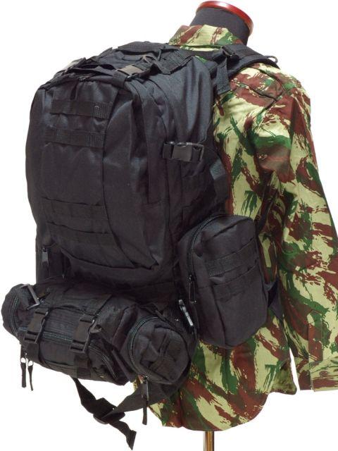 注文割引 Extreme 撥水 BackPack Pak 4pcブラックミリタリーバックパック 3day BackPack メンズ メンズ 男 アウトドア 撥水, 志布志町:931b96f8 --- supercanaltv.zonalivresh.dominiotemporario.com