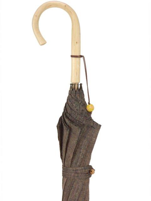 Parasol (brown) long parasol UV cut of the 皇室御用達前原光榮商店 ており hemp