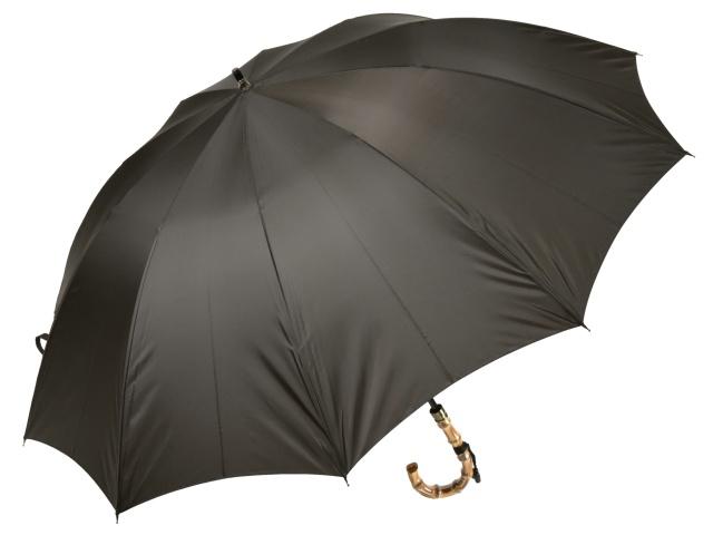 大判親骨70cm 軽量 カーボン骨メンズ長傘(ブラウン) 寒竹手元 10本骨雨傘 高密度 超撥水 かさ工房ワカオ 日本製傘 Tokyo Made WAKAO 紳士 男