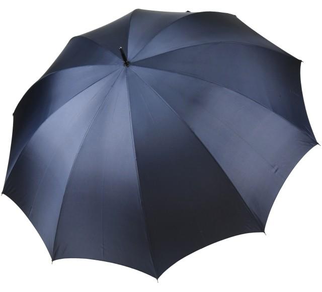 前原光榮商店のスリムでおおきい超大判親骨75cm紳士用10本骨雨傘ダークブルー 前原傘 かさ 紺 日本製