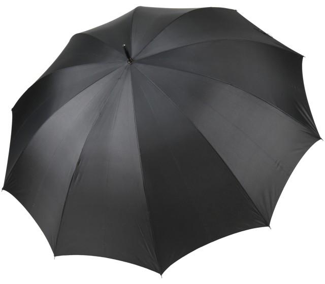 前原光榮商店のスリムでおおきい超大判親骨75cm紳士用10本骨雨傘ブラック 前原傘 かさ 日本製