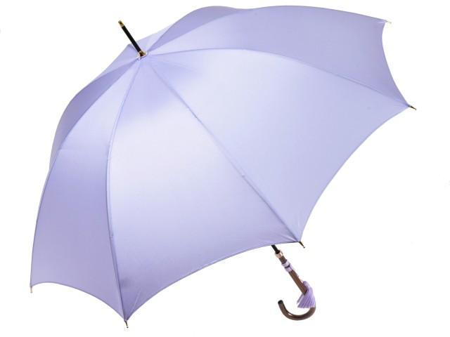 かさ工房ワカオ おしゃれなレディース長傘 細巻ラタン調ハンドル 8本骨 日本製雨傘 (ラベンダー) 親骨55cm Tokyo Made WAKAO 婦人 女 送料無料