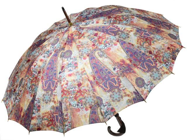 前原光榮商店 婦人用カーボン16本骨雨傘 ガムラン-Carbon(イエロー) 前原傘 かさ 皇室御用達前原光栄商店製