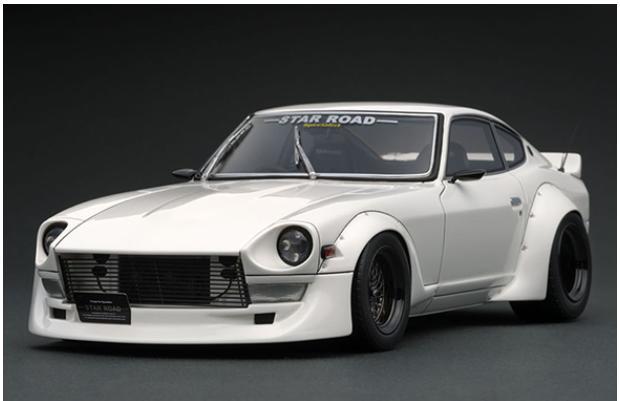 1/18 Nissan Fairlady Z (S30) STAR ROAD White IG1361 【ignition model/イグニッションモデル】【4573448883611】