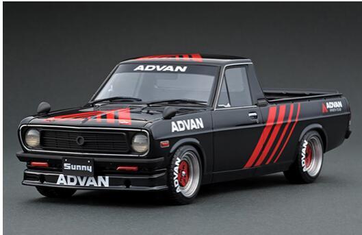 1/18 Nissan Sunny Truck Long (B121) Black IG1437【ignition model/イグニッションモデル】【4573448884373】