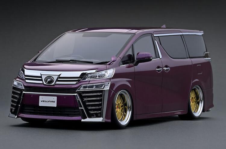 1/18 Toyota Vellfire (30) ZG Purple Metallic IG1674 【ignition model/イグニッションモデル】【4573448886742】