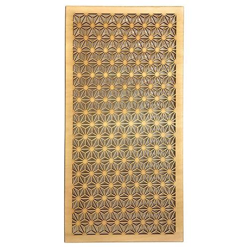 ウォールデコ 組子調 【和風アートパネル 木製 麻の葉(60X30センチ)】シナ合板 和 モダン ウォールアート インテリア パーテーション 組子細工調 木製 レリーフ 壁飾り 和風 壁掛け 送料無料 特注品承ります