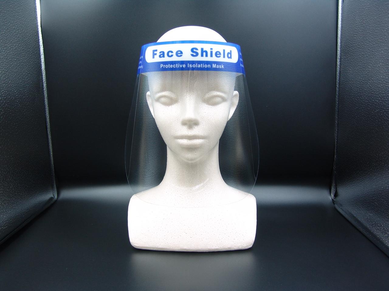 海外限定 飛沫から顔を保護するフェイスシールド フェイスシールド 1枚 新型コロナ ウイルス対策 感染予防 オリジナル フェイスガード 透明シールド