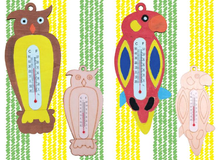 木製色付け温度計 100ヶセット【手作りキット】