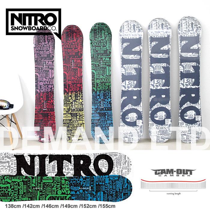 スノーボード 板 ナイトロ NITRO [DEMAND LTD CAM-OUT] ボード レディース スノボ 138cm/142cm/146cm/149cm/152cm/155cm キャンバー snowboard