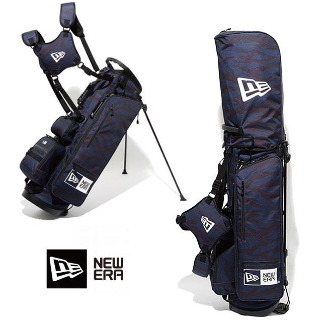 ゴルフバック ニューエラ NEW ERA ゴルフ golf Stand Caddie Bag (TIGER STRIPE CAMO NAVY) 11404363 キャディーバッグ newera フルセット用 【バック】