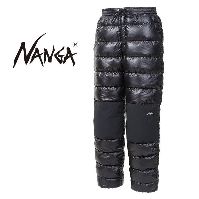 ナンガ NANGA ポータブルダウンパンツ BLK 日本製 [1101]
