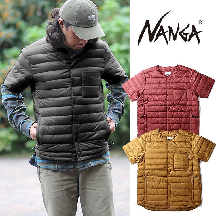 ダウンジャケット ナンガ ダウンシャツ NANGA [DOWN SHIRT] 半袖 ジャケット ラウンドネック アウター [0905]【WK】