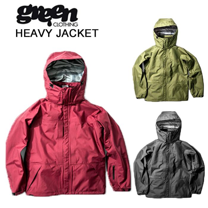 グリーンクロージング スノーボード ジャケット GREEN CLOTHING [ HEAVY JACKET ] スノボ ウェア [0103]