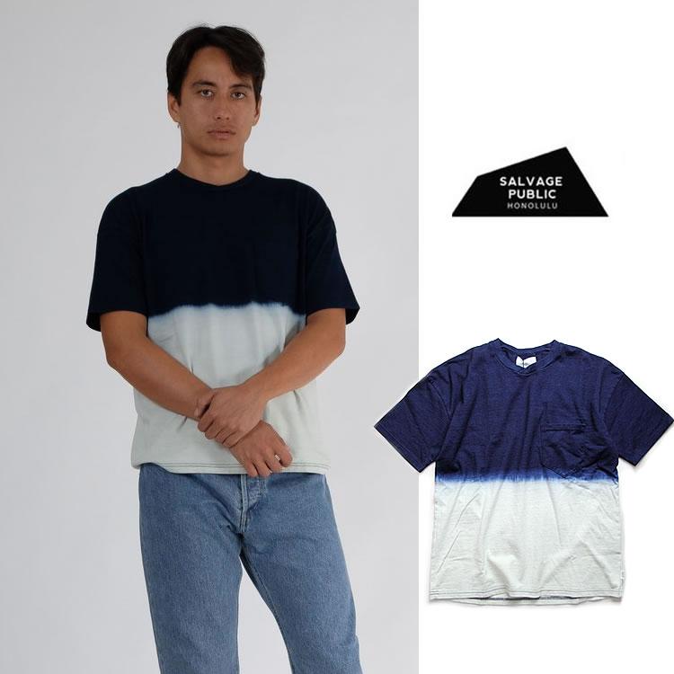 サルベージパブリック Tシャツ SALVAGE PUBLIC [ POCKET TEE ] INDIGO ポケットTシャツ ポケT ハワイ ホノルル 日本製 藍染 [1210]【WK】【SPS12】