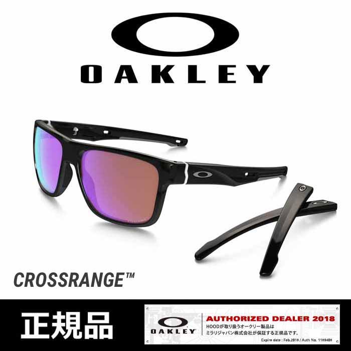 オークリー サングラス OAKLEY [ 9371-0357 ] CROSSRANGE(A) P.BLK/GOLF [0401]
