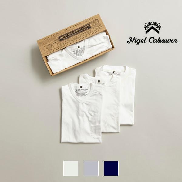 【25日Point最大46倍DAY】ナイジェルケーボン パックTシャツ Nigel Cabourn [ 3-PACK TEE ] 半袖 クルーネック [0301]