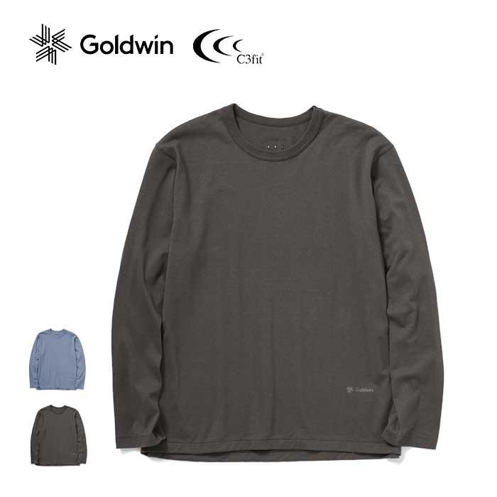 高品質 遠赤外線保温素材 光電子 を使用したリカバリーウエア C3fit リポーズ ペーパー ロングスリーブ Tシャツ GC41120 Paper リカバリーウエア L Re-Pose 210715 T-shirt 限定特価 メンズ S