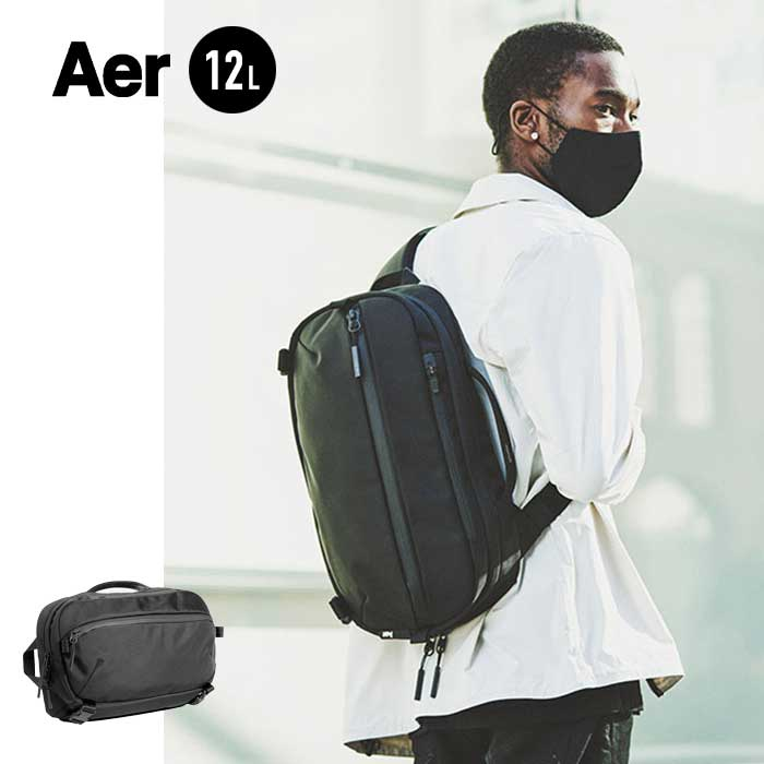 旅の必需品を携帯できるようデザインされたバッグ エアー トラベル スリング Aer [ 21013 ] TRAVEL SLING 2 (010 BLK) ショルダーバッグ [210902]