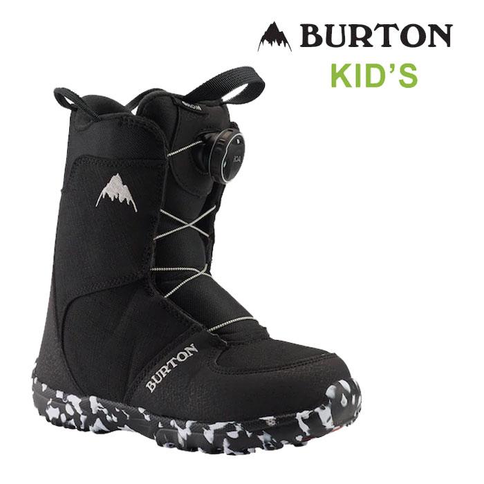バートン キッズ スノーボードブーツ BURTON [ GROM BOA BOOTS ] BLK スノボ [1001]