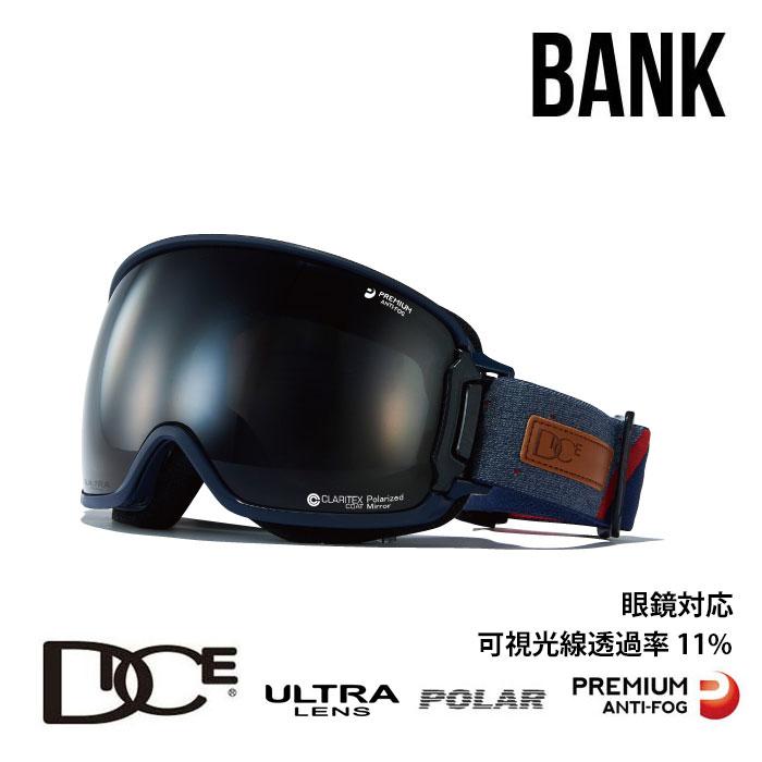 ダイス スノーボード ゴーグル BANK バンク DICE (BK94362NAV) BK-pU/LPBKd-PAF NAV スノボ スキー goggle [0130]