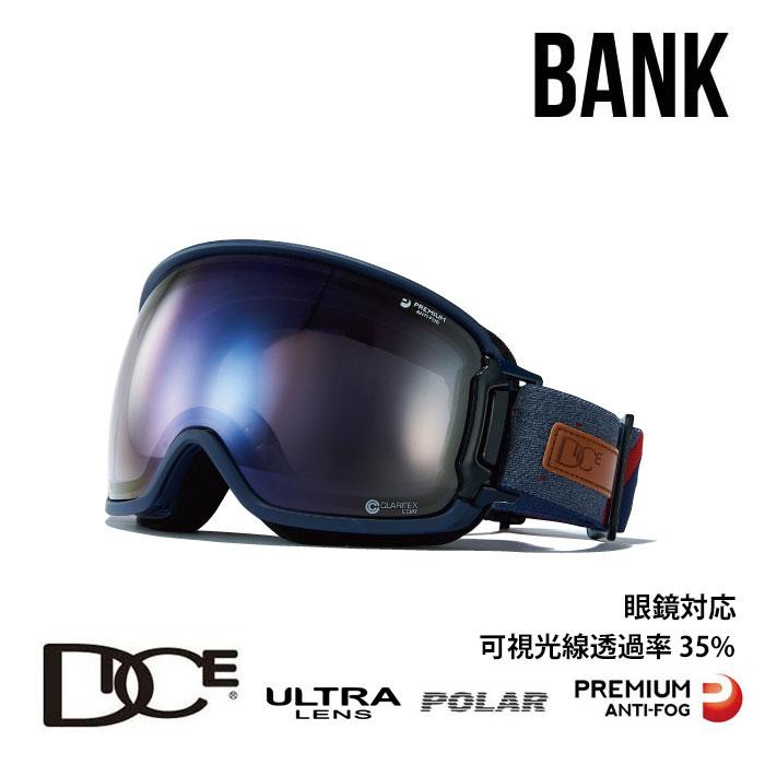ダイス スノーボード ゴーグル BANK バンク DICE (BK94165NAV) BK-U/LPICEd-PAF NAV スノボ スキー goggle [0130]