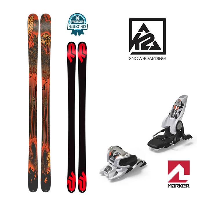 【スキー2点セット】K2 スキー 板 18/19 SIGHT SKI 169cm /MARKER ビンディング [GRIFFON 13 ID] 18/19 WHT 90mm