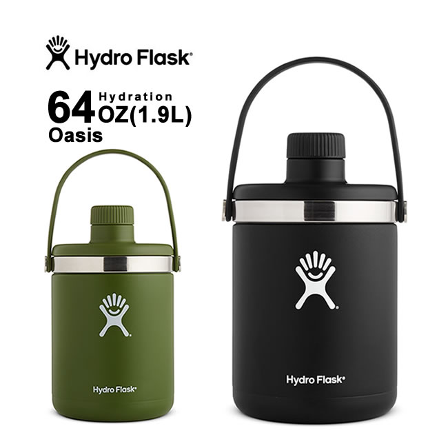 ハイドロフラスク Hydro Flask (5089086) OASIS HYDRATION 64oz(1.9L) オアシス 保温 保冷 ボトル 水筒 魔法瓶 [0402]
