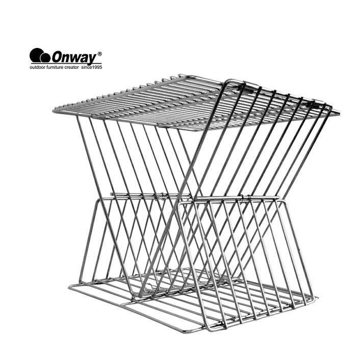 オンウェイ 焚火ラックテーブル ONWAY [ OW-3435 ] サイドテーブル ステンレス バーベキュー [1001]