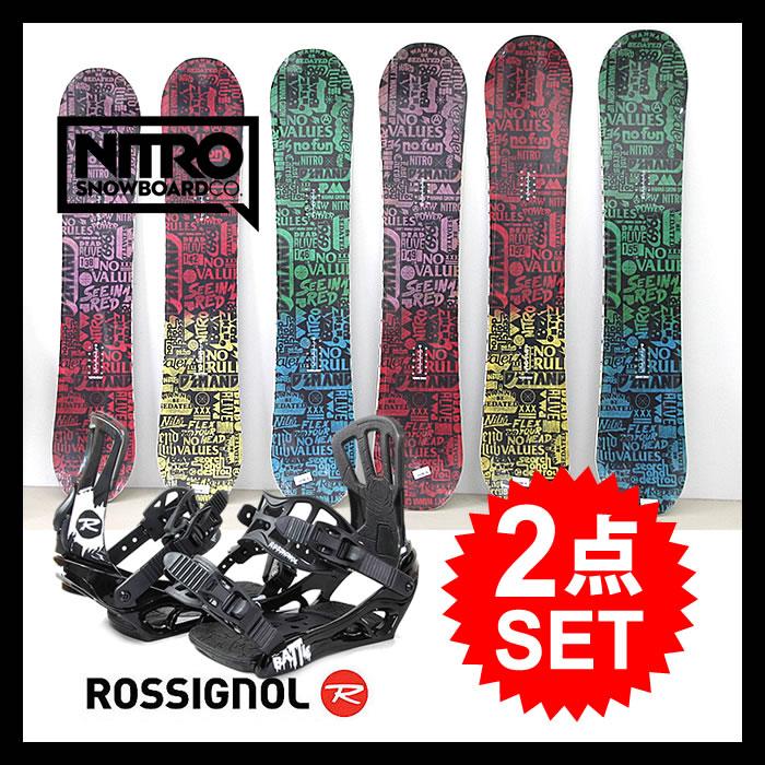 【会員限定エントリーでP最大18倍】【2点セット】スノーボード ビンディング ROSSIGNOL ロシニョール BATTLE V1 + NITRO ナイトロ DEMAND LTD スノボー バインディング snowboard