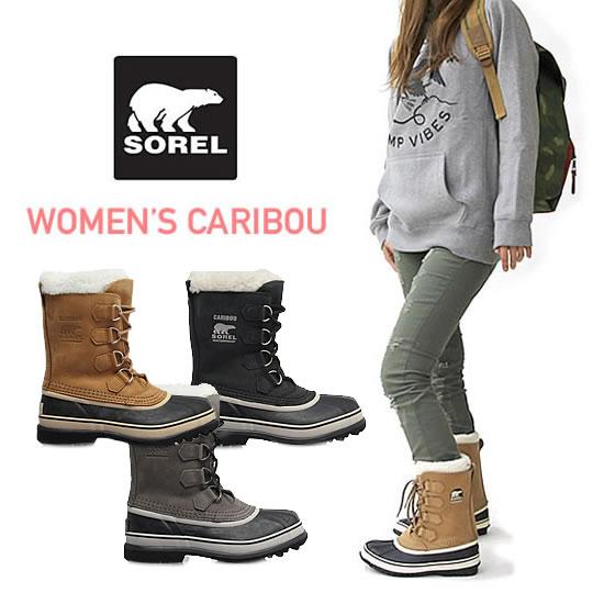 ソレル ブーツ カリブー ウインターブーツ 《 レディース 》 SOREL WOMEN's CARIBOU (NL1005) ブーツ 防寒靴 寒冷地 スノーブーツ 防寒ブーツ 防水 女性