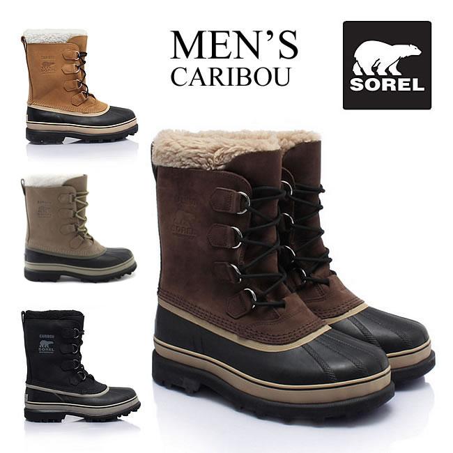 男性用 カリブーウール メンズ ソレル スノーブーツ 防寒ブーツ Sorel Caribou WL NM2726