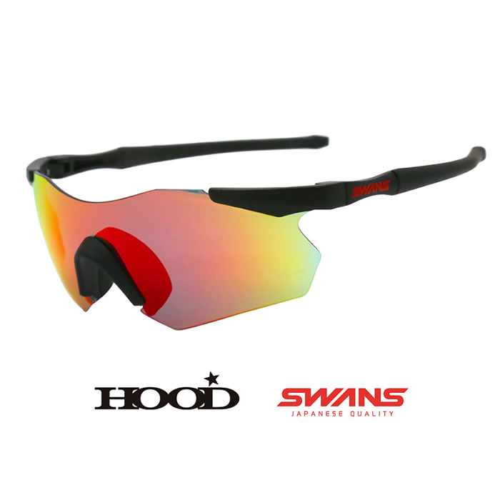 スワンズ 偏光サングラス SWANS MBK ガルウィング [0601] HOOD別注カラー GULLWING (GUF-1751 HOOD LTD) (GUF-1751 MBK × Polarized Smoke(Red shadow mirror) [0601], KURANBON:969cecda --- sunward.msk.ru