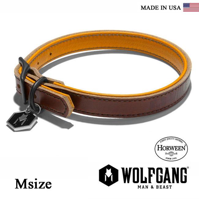 犬の首輪 HORWEEN 新登場 ホーウィンレザー使用 20日 5の倍数DAY最大P21.5倍 首輪 犬 犬首輪 WOLFGANG MAN 2020新作 BEAST ウルフギャング COLLAR IN 小型犬 中型犬用 小型 HC-003-2 くびわ MADE 中型犬 SPSP10 レザーカラー Msize USA