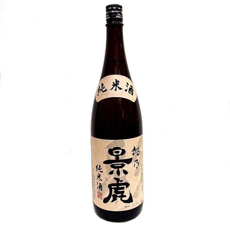 新潟県を代表する日本酒です 飲むほどに旨さを感じる純米酒 新潟県:中部 通販 激安 日本酒 景虎 諸橋酒造 敬老の日 プレゼント 純米酒 2020新作 こしのかげとら 越乃景虎 1800ml あす楽 クーポン 新潟県