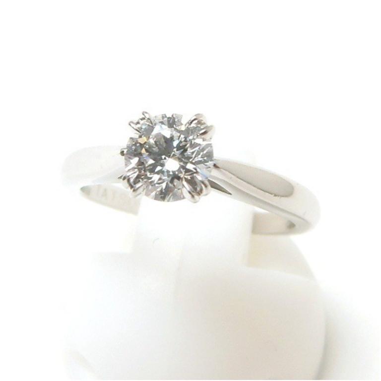 ハリー・ウィンストン 指輪 ダイヤモンド立爪リング 0.54ct D VVS1 3EX 名前入り /プラチナ/Pt950 3.8g 【中古】(47548)