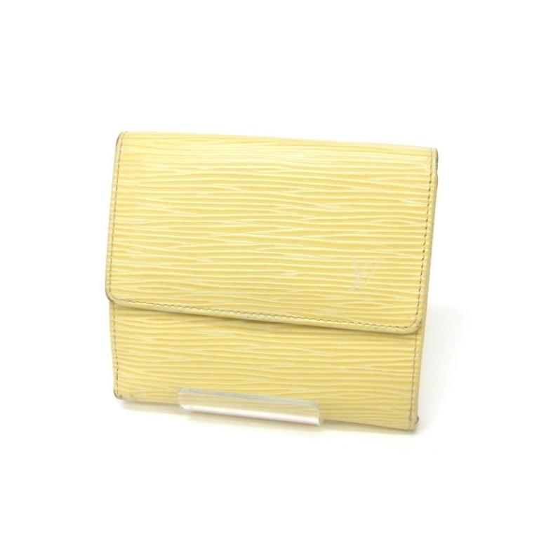 ルイ・ヴィトン 両面開き財布 エピ ヴァニラ M6348A クリーム色【中古】(17817)(17817)