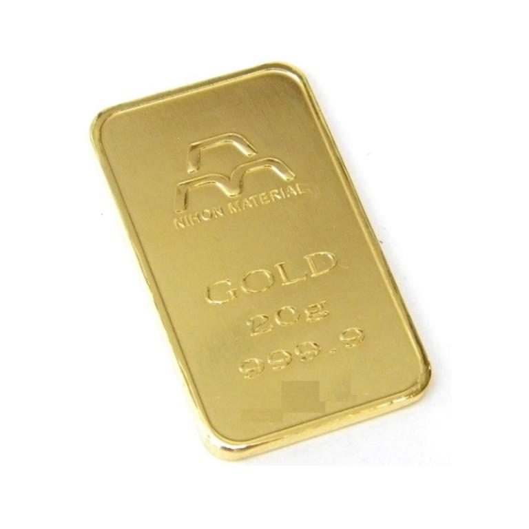 ゴールド/ 20g ingot/ インゴット ゴールドバー 24金 (39025) K24 日本マテリアル 純金