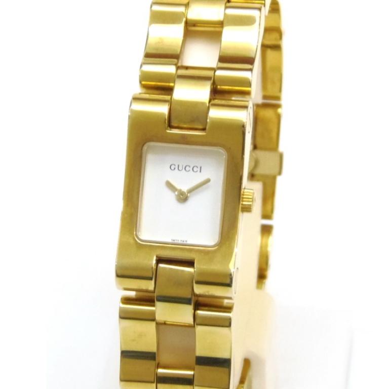 グッチ 腕時計 クオーツ 共ベルト 2305L 白盤 ステンレススチール 【中古】(51221)