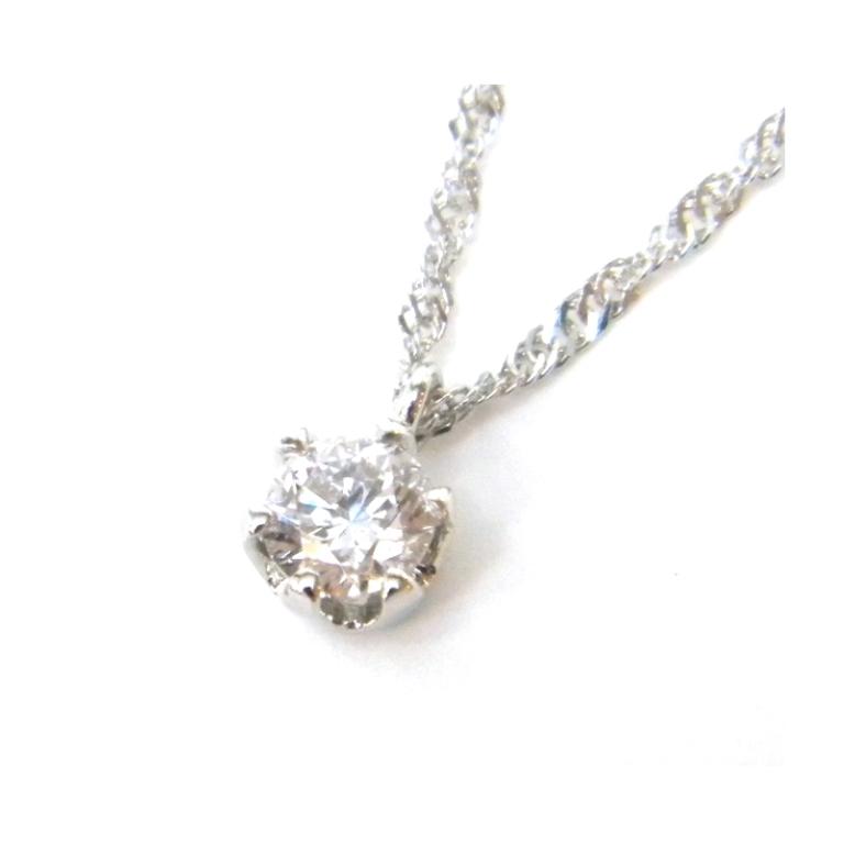 ペンダントネックレス プチネックレス 0.200ct D-SI2-G ダイヤモンド/プラチナ/Pt1000 2.1g 40cm 【中古】(40371)