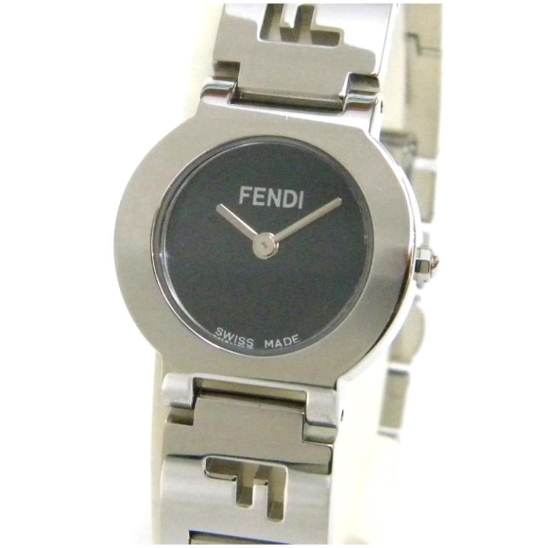 フェンディ 腕時計 3050L 黒文字盤 ステンレススチール 【中古】(44698)