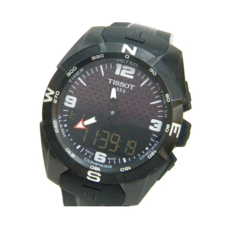 ティソ TISSOT メンズウォッチ 腕時計 タッチソーラー クオーツ RTS8KUNS4 【中古】(41132)