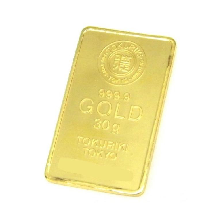 純金 インゴット 30g 徳力本店 ゴールドバー 24金 K24 金塊(42084)(42084)