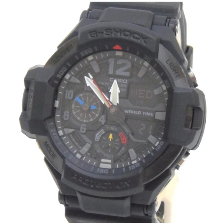 カシオ Casio メンズウォッチ 腕時計 G-SHOCK GA1100-1A1 黒 【中古】(47965)