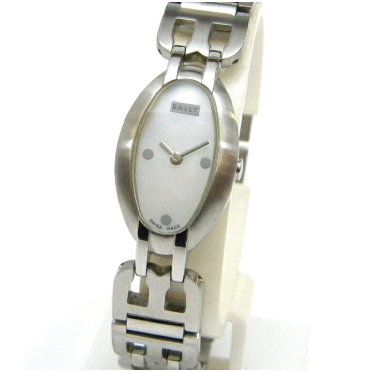 バリー レディースウォッチ 腕時計 クオーツ 楕円型 SS シェル盤【中古】(43728)