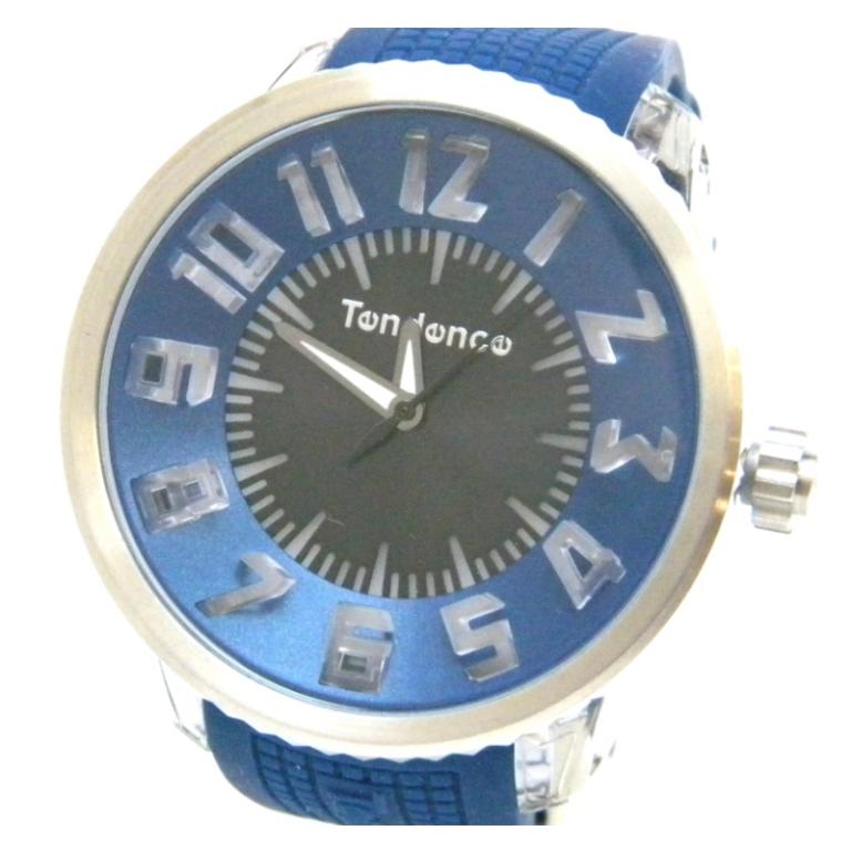 テンデンス 腕時計 FLASH フラッシュ ラバーベルト クオーツ TG530002 青黒盤 【中古】(47192)