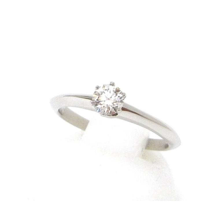 ティファニー 指輪 ダイヤモンド立爪リング 0.24ct Gカラー VS2 /Pt950【中古】(43256)