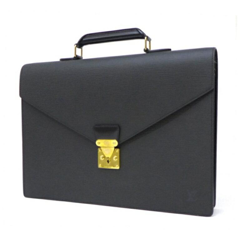 ルイ・ヴィトン セルヴィエット・アンバサダー ビジネスバッグ M54412 エピ 黒 【中古】(43492)