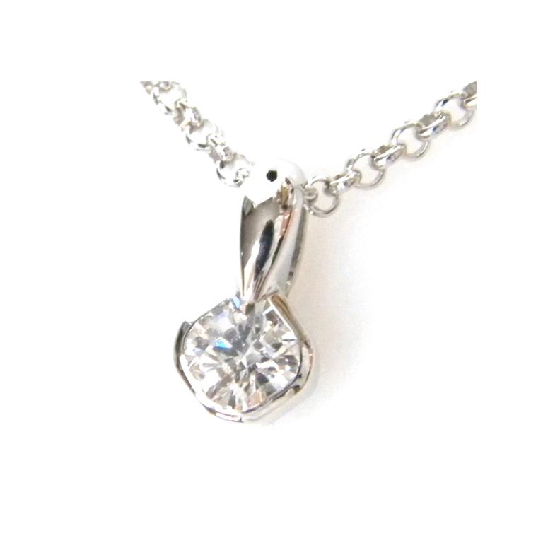 K18WG ジュエリー ペンダントネックレス クロスフォーカット ダイヤモンド 0.265ct D-VVS1 【送料無料】【中古】(2403(24036)