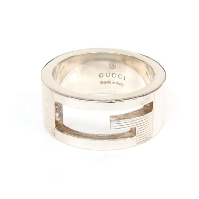 グッチ GUCCI 指輪 SVリング ブランデッドG /シルバー/SV925 9 【中古】(49628)
